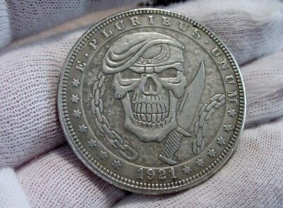 "Hobo Nickel Style Morgan DOLLAR SIZE Silver Clad Coin - Rare Series ""9"" - x1 -aj"