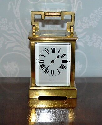 Antique Edwardian Quality Brass Chiming Carriage Clock with Enscription