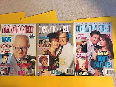 CORONATION STREET 1994 PRINT OF THE OFFICIAL MAGAZINE ISSUES 1, 2 and 3