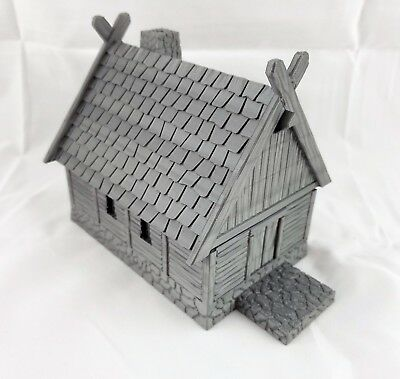 Viking House with Removable Roof   Longhouse   Dungeons and Dragons   Warhammer