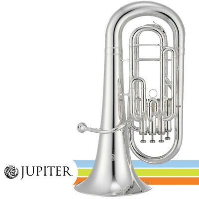 NEW Jupiter JEP1000S Key of Bb Silver Plated Finish 4-Valve Euphonium with Case