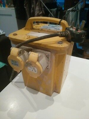 110 volt site transformer 3300 watts 3.3 kVA two outlets yellow