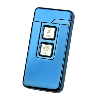 KCASA Windproof USB Arc Dual-Purpose Electric Lighter Double Touch Ignition
