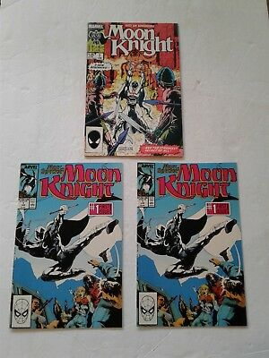 MOON KNIGHT (1985) #1 VG/FN and 2 COPIES 1989 #1 VF/NM & NM-