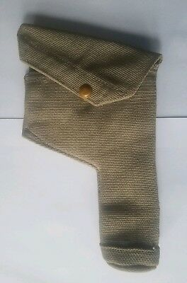 Vintage British A.M. 1941 Khaki Canvas Holster