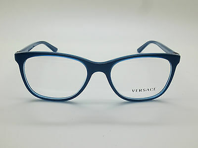 8d82fbe2101 NEW AUTHENTIC VERSACE Mod. 3187 5056 Blue 53mm RX Eyeglasses ...