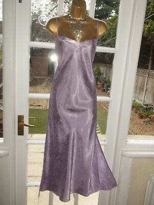 Vintage Style British Home Stores Satin Nightie Nightdress Gown UK16 Tall Girl