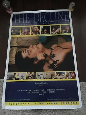 Decline of the western civilization Movie Poster Fear Germs Black Flag Punk