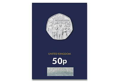 BUNC Representation of the People Act 2018 UK CERTIFIED BU 50p fifty pence