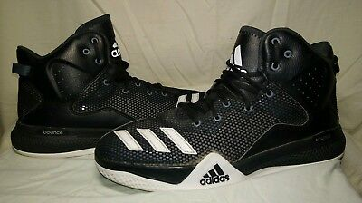 big sale 21694 fc027 ADIDAS DUAL THREAT DT MENS BASKETBALL SHOES Size 9 Black White AQ7288  Sneakers