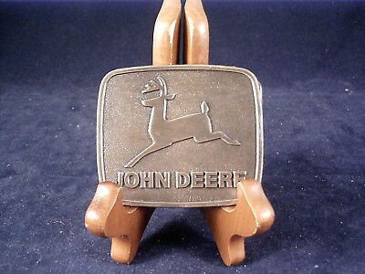 "1981 John Deere ""leaping Deer"" Logo Belt Buckle."