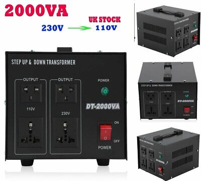 2000 Watt Heavy Duty Voltage Regulator Converter Transformer Step Up/Down NEW