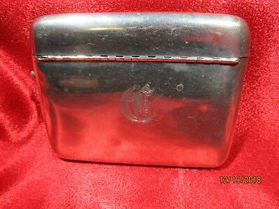 Vintage Maker's Marked Sterling Silver Cigarette Case 101g