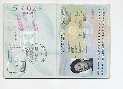 Israel Old Passport Cancelled - Not Valid. Visas, Stamps