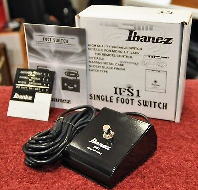 Ibanez IFS1 One-button Latching Footswitch for TB25R and TA225 - New & Sealed!