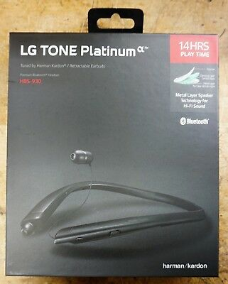 a8e6d0a6f2d LG Tone Platinum α HBS-930 Wireless Bluetooth Stereo Headset Black NEW OPEN  BOX