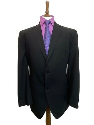 AUSTIN REED 50 LONG BLACK SUPER 100s LUXURY PURE WOOL BLAZER. IMMACULATE COND