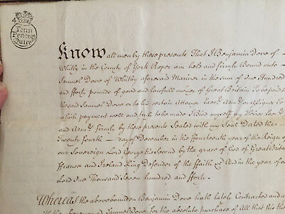 1740 Paper Obligation Bond of £140 with Special Condition - Benjamin Dove