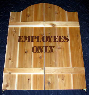 Employees Only Business Restaurant Bar Pub Cafe Swinging Doors Sign