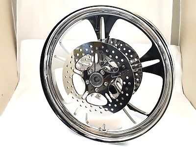 23 x 3.75 HARLEY DAVIDSON ROAD GLIDE CHROME REAPER WHEEL With ABS & ROTORS