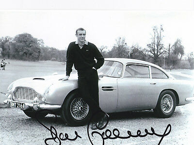 Autograph Sean Connery James Bond With Aston Martin Db5 Original Signed