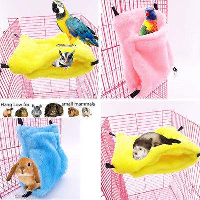 Hammock House for Pet Ferret Rat Hamster Parrot Squirrel Hanging Bed Toy SA