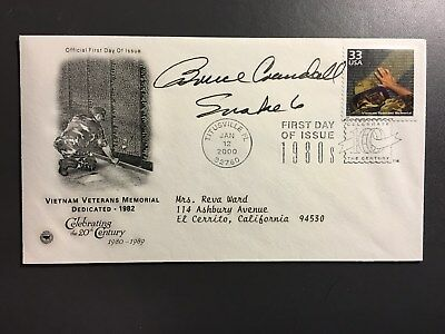 Medal Of Honor Recipient Bruce Crandall Signed First Day Cover Moh
