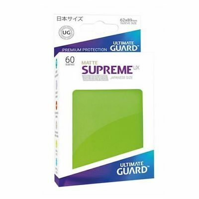 Ultimate Guard - Supreme UX Sleeves Small Size - Matte - Light Green (60) New x1