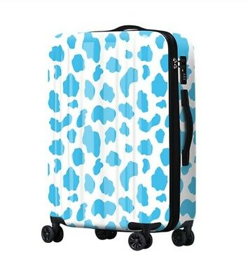 D414 Lock Universal Wheel Blue Spot ABS+PC Travel Suitcase Luggage 24 Inches W