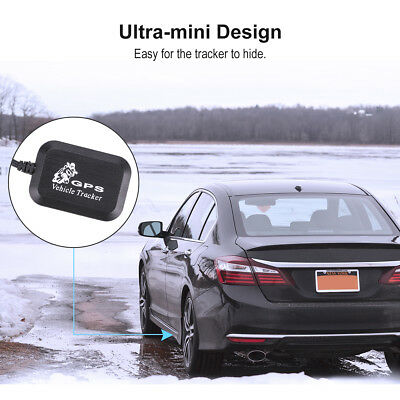 Mini Car Vehicle GPS Tracker Real Time GSM/GPRS Tracking Device Anti-theft Black