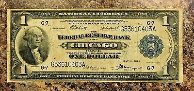 Series 1918 NATIONAL CURRENCY $1 CHICAGO IL.