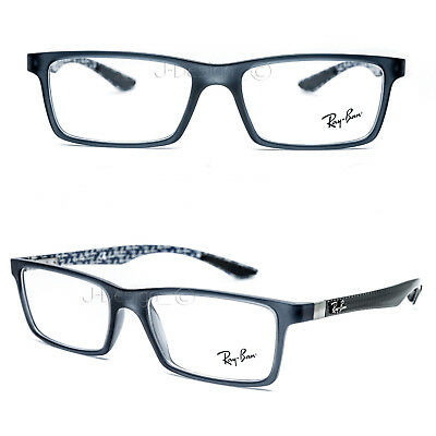 87d83522668 RAY BAN RB 8901 5262 Carbon Fiber Matte Blue 53 17 145 Eyeglasses Rx ...