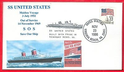 SS United States maiden voyage 3 July 1952, now she need help Save our ship. SOS