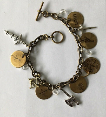 FIVE LORD OF THE RINGS Charm Bracelets LOTR Fellowship of the Rings