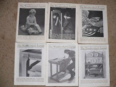 Woodworker's Journal Vol 7 - No. 1, 2, 3, 4, 5, & 6 - 1983, entire year