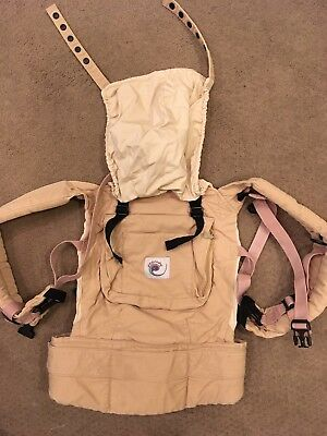 Tan Ergo Baby Carrier With Infant Insert