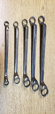 Vtg 5 Wrench Lot USA  Offset / 12pt Box-End Wrenches
