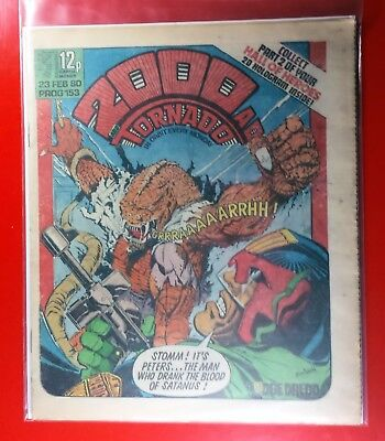 2000AD PROG 153 Dredd Blood of Satanus. Top Sci Fi Movies Things to come.