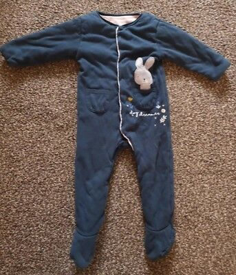 Mothercare Wadded Walk In Sleepsuit Girls 18-24 Months