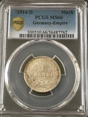 1914-d 1 Mark Germany PCGS MS 66 Empire
