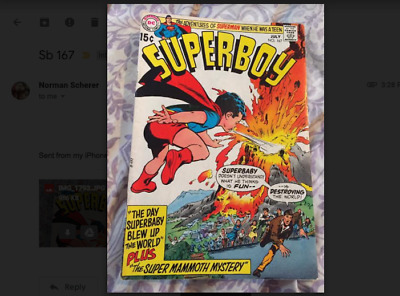 Superboy 167 - July 1970- Adv of Superman When He Was A Teen -  Very Good/Fine