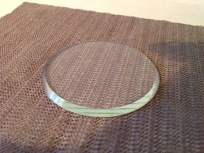 Small Round Victorian Bevelled Glass Front. 14cm