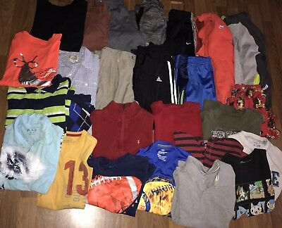 boys Winter/Spring/Play Clothes/Long Sleeves/Pullovers/Pants Sz 7/8 Lot Of 25/