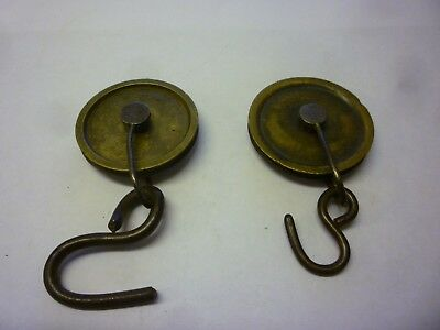 Pair Of 18th Century 8 Day Grandfather Clock Weight Pulleys (7F)