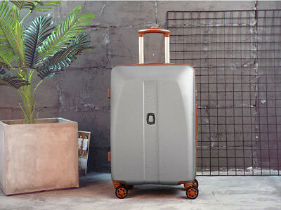 D888 Grey ABS Universal Wheel Coded Lock Travel Suitcase Luggage 20 Inches W
