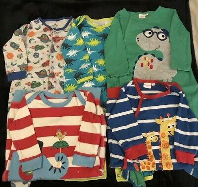 Bundle Boys Baby Sleepsuits X 5 (6-9mths) (Frugi, Next, Blue Zoo & Boots)
