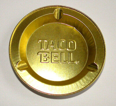 Taco Bell Restaurant Aluminum Tin Metal Vtg Disposable Ashtray Advertising