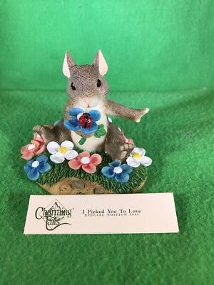 """Fitz & Floyd Charming Tails """"I Picked You to Love"""" Special Ed. 2000 #98/219"""