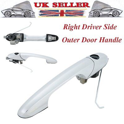 735592012 Fiat 500 Offside Right Drivers Side Chrome Outer Door Handle New