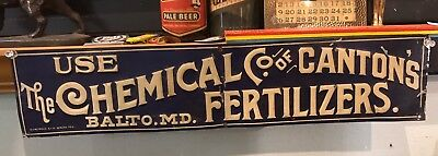 Baltimore Antique Tin Sign Chemical Company Of Canton Fertilizers